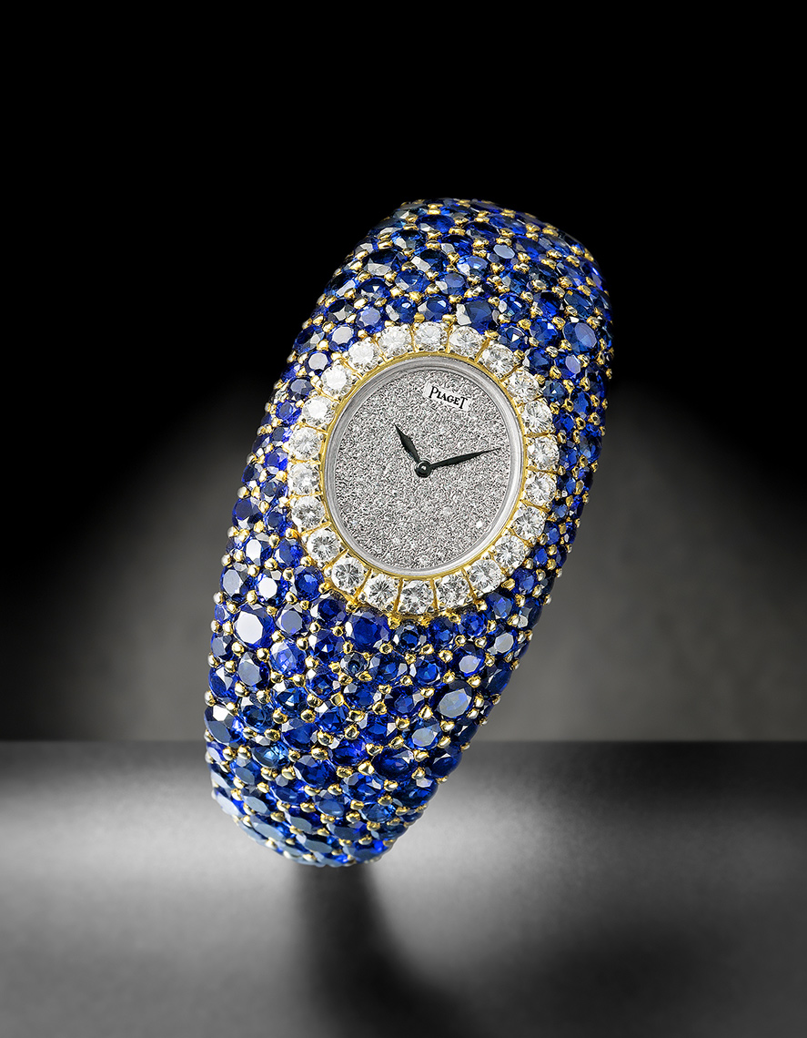 PIAGET SAPPHIRE AND DIAMOND WATCH