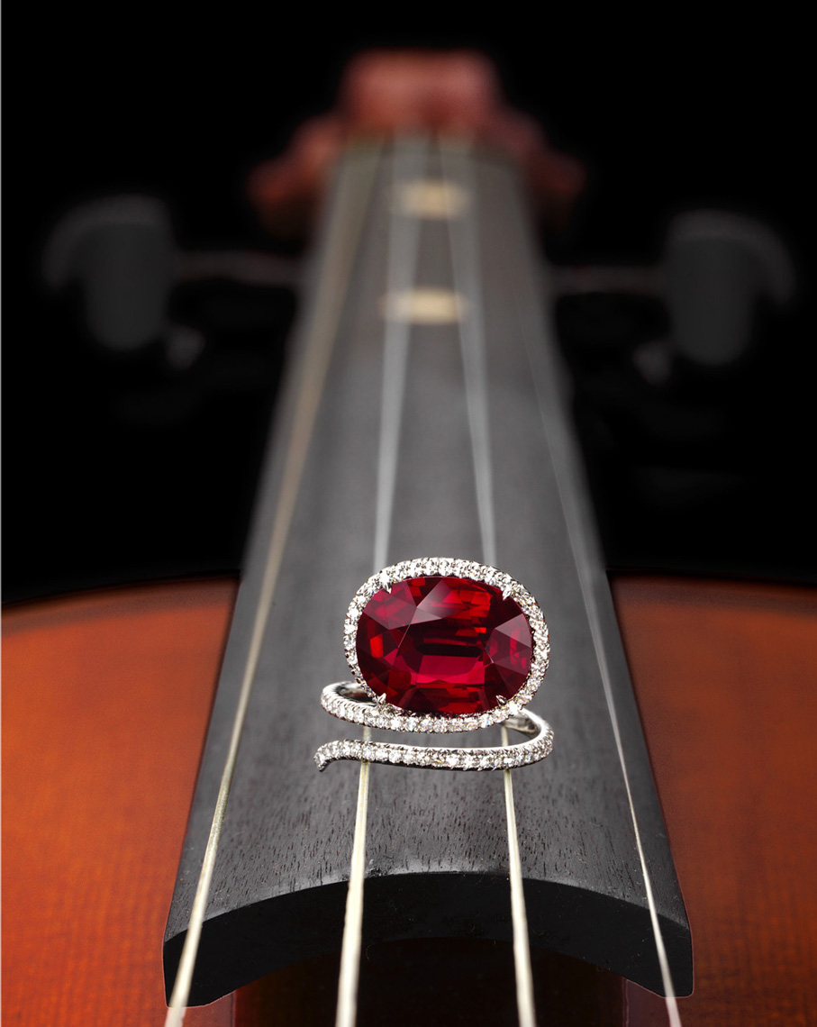 James deGivenchy Ruby Ring