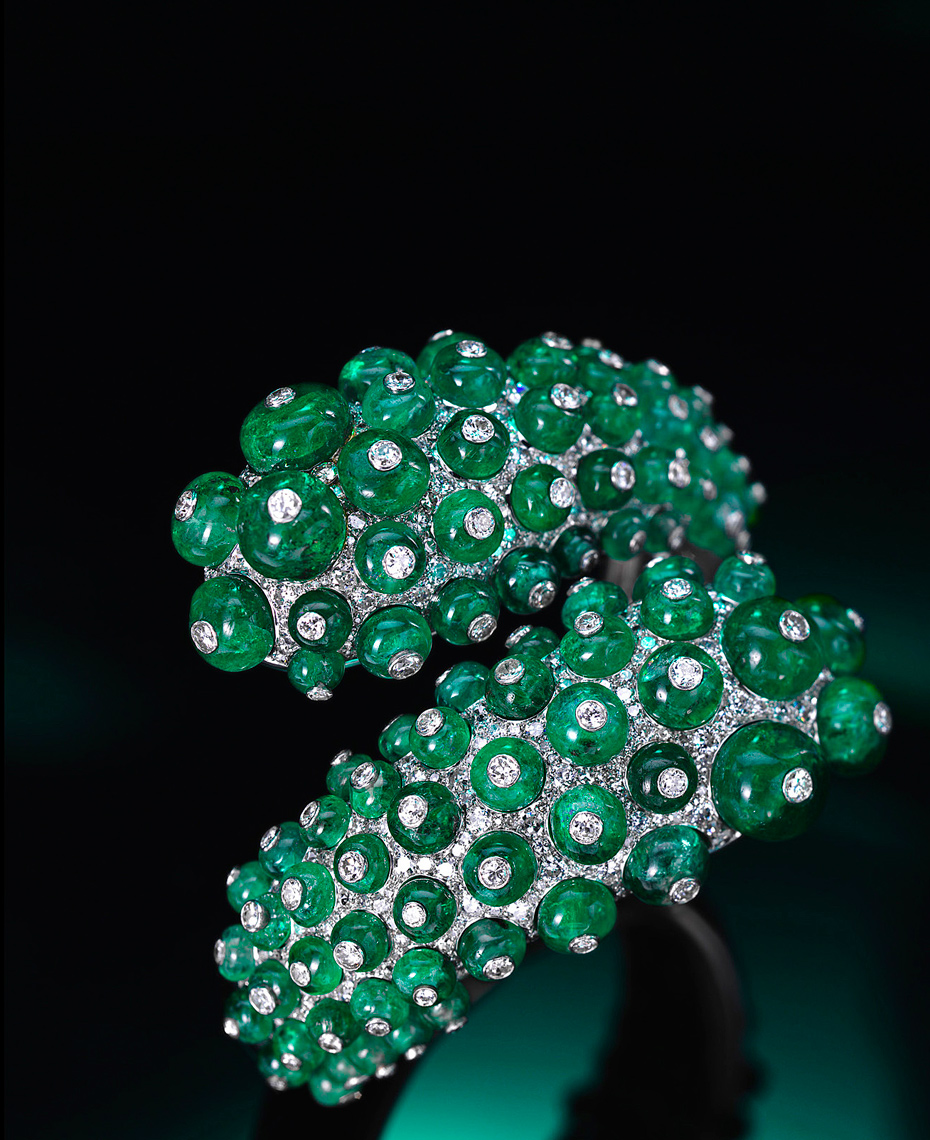 Jewelry Photography - Emerald and Diamond Detail