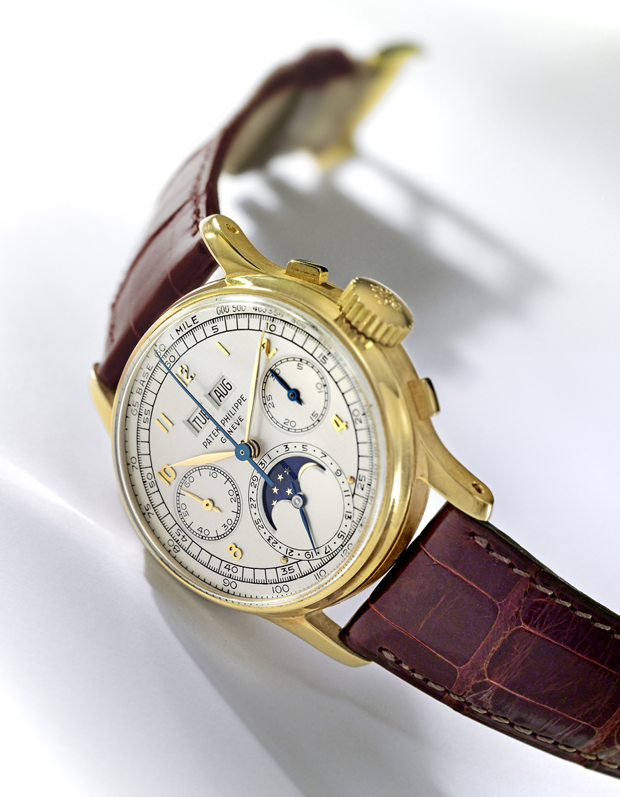Gold Patek watch photography