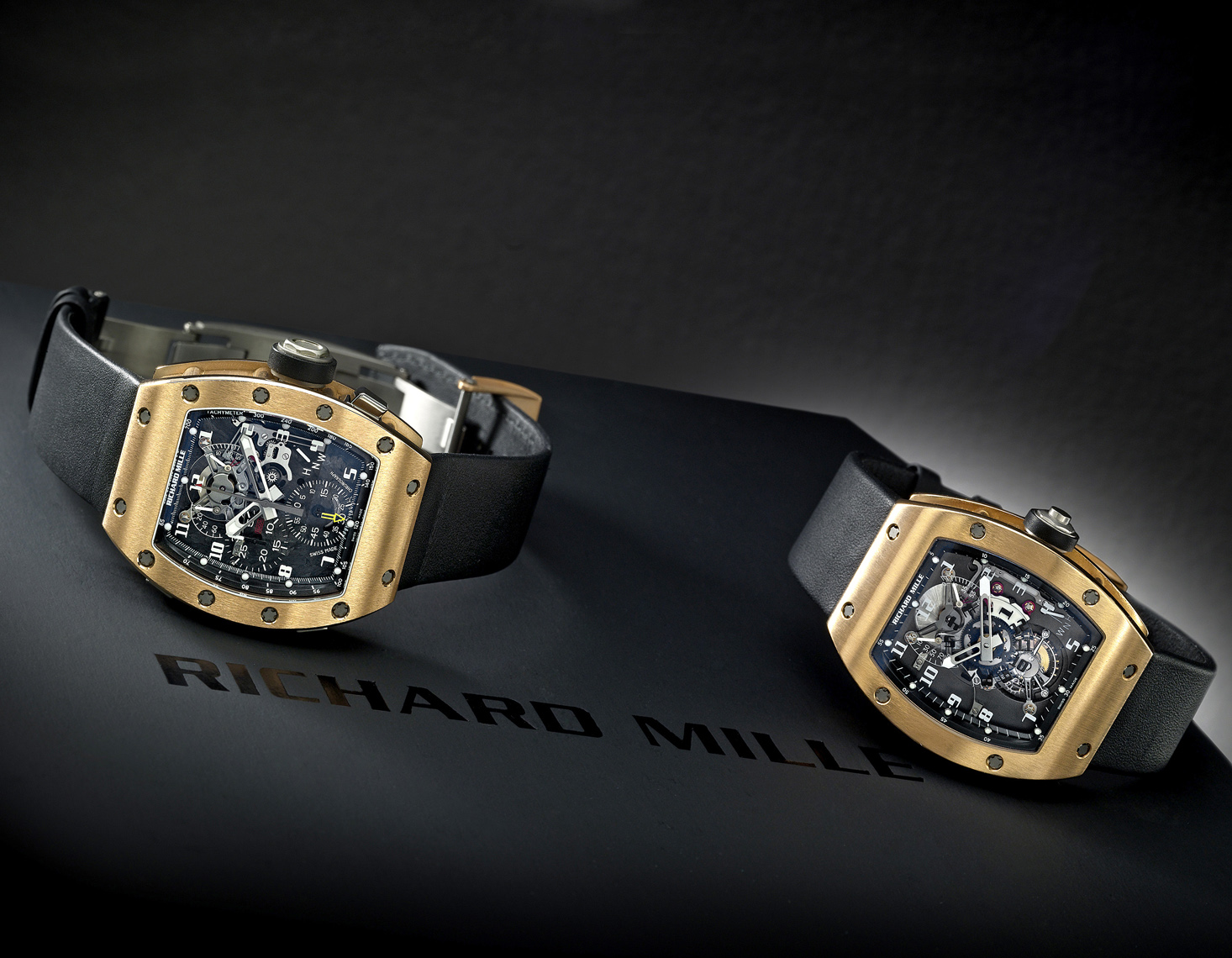 Timepiece Photography - Richard Mille gold watches