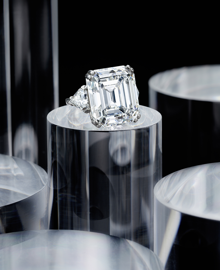Jewelry Photography - DIamond Ring photographed on lucite