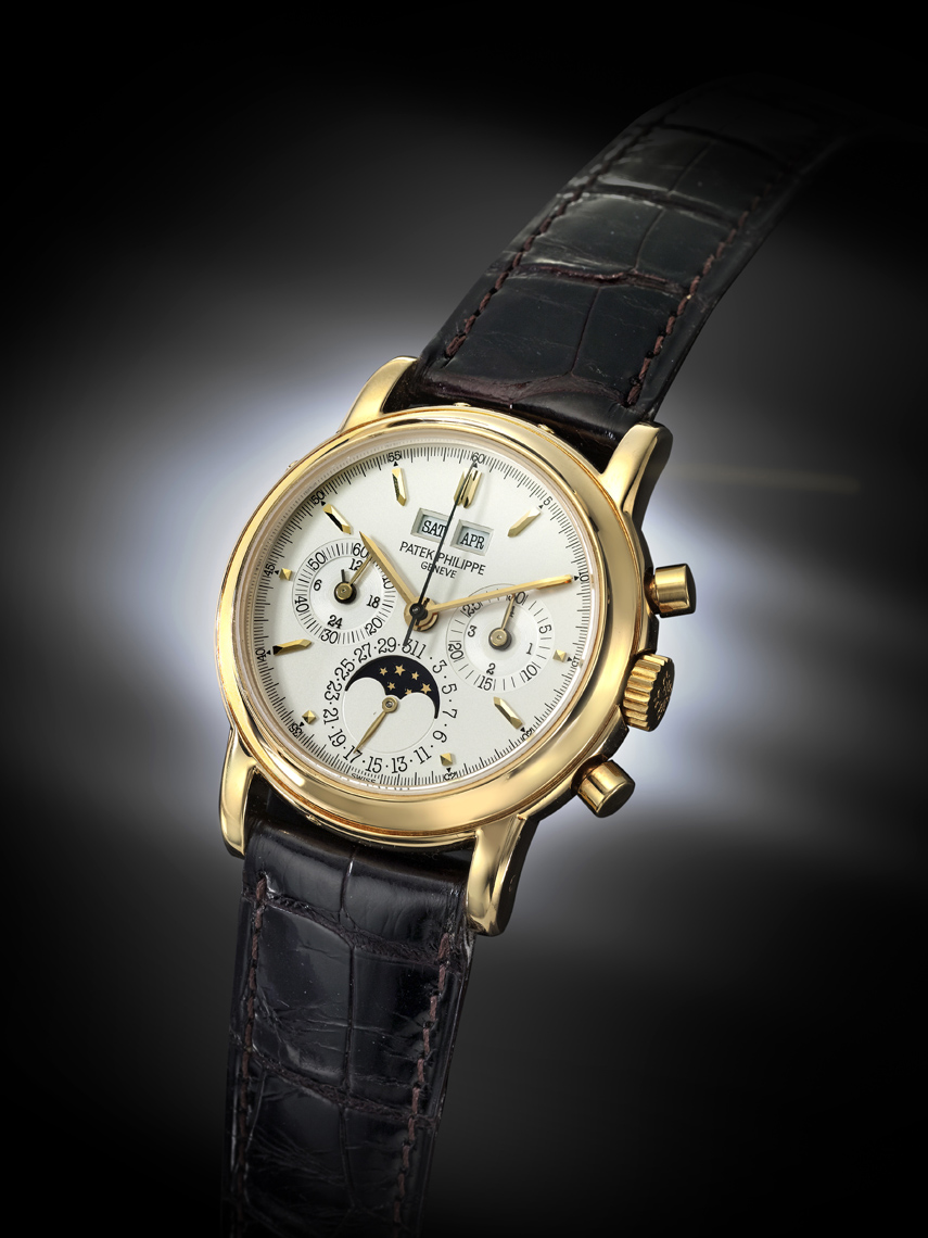 exceptional gold Patek  Philippe watch