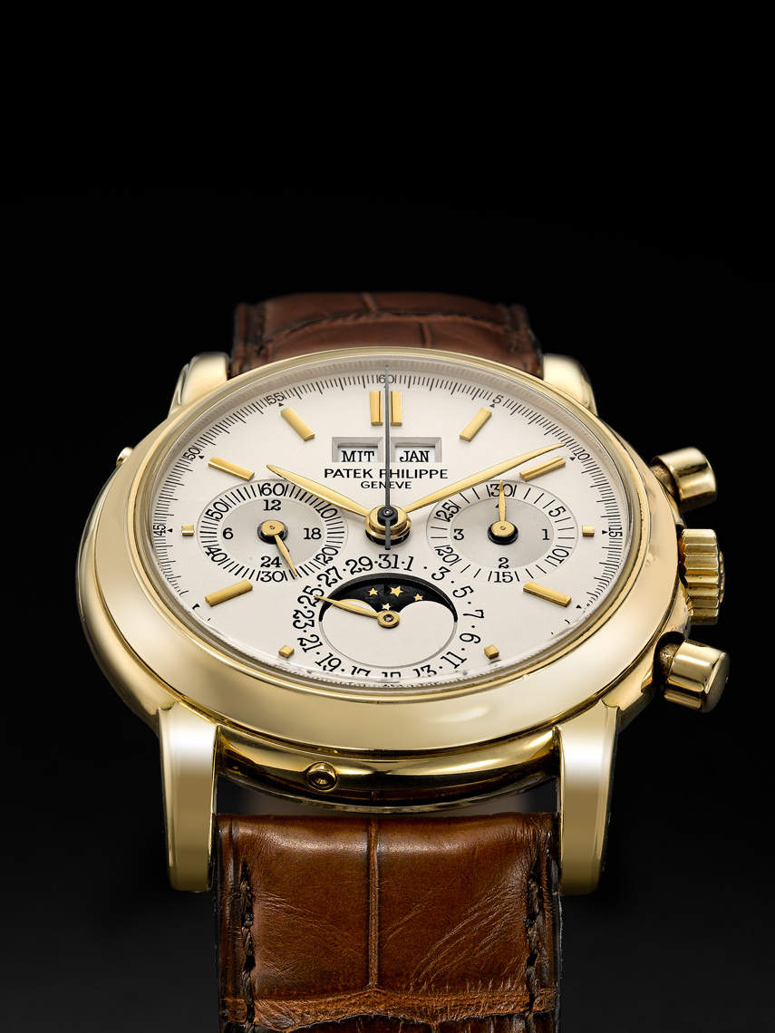 Patek Philippe gold watch photography
