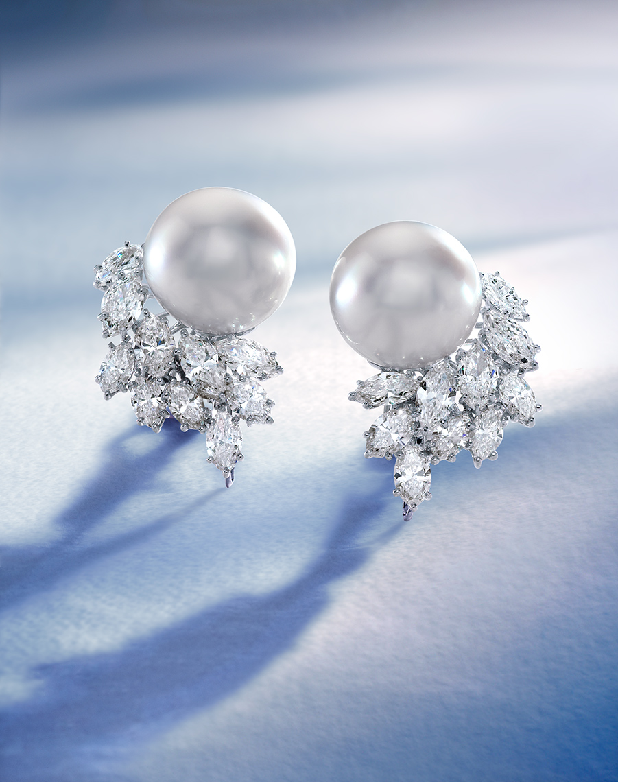 Assael Diamond and pearl earrings