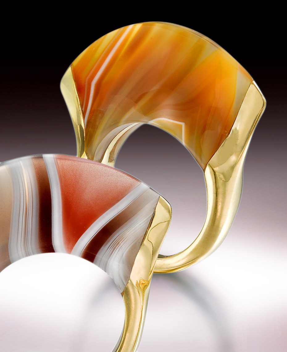Jewelry Photography - Nicholas Varney Agate and Gold Ring