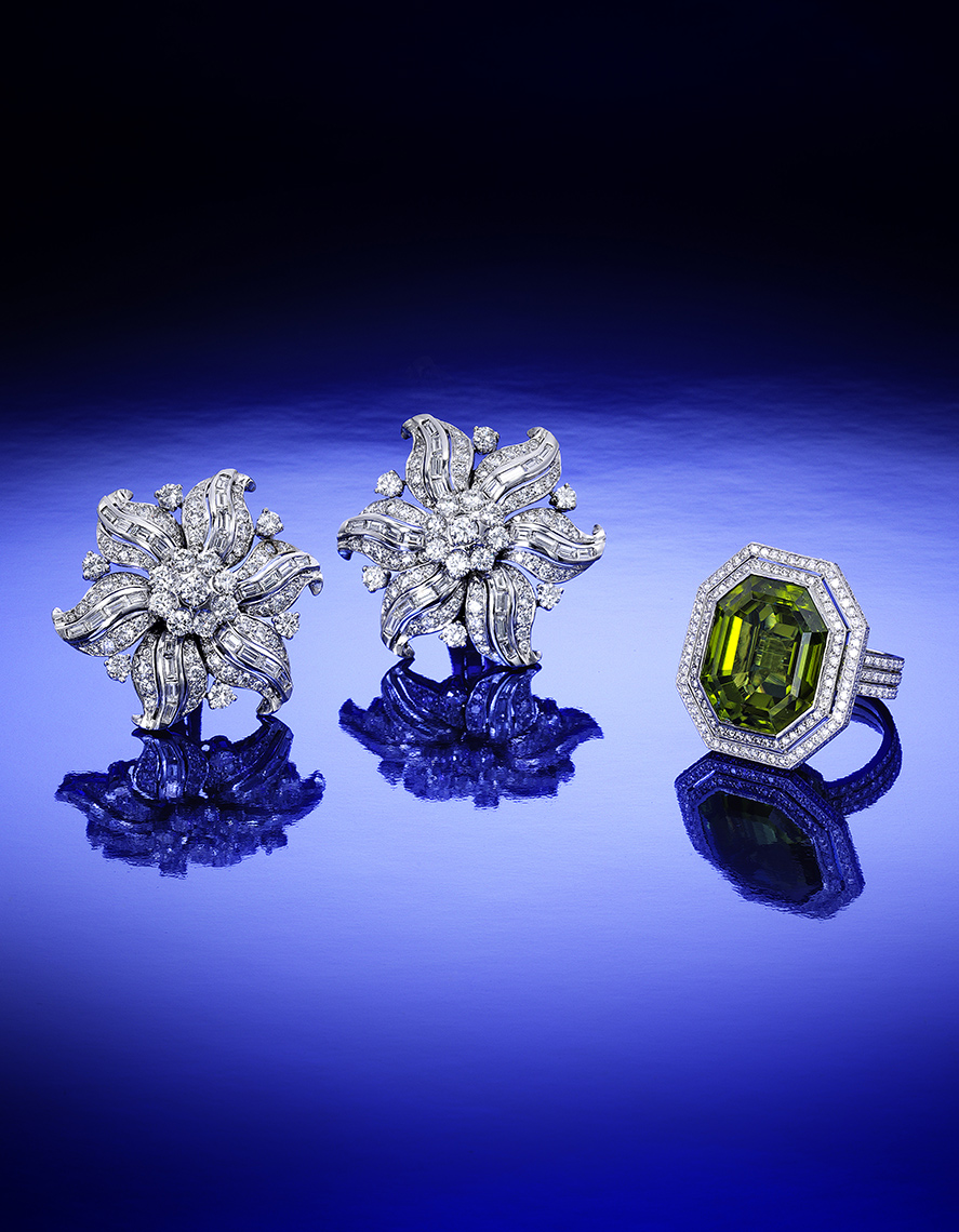 diamond earclips and peridot.jpg