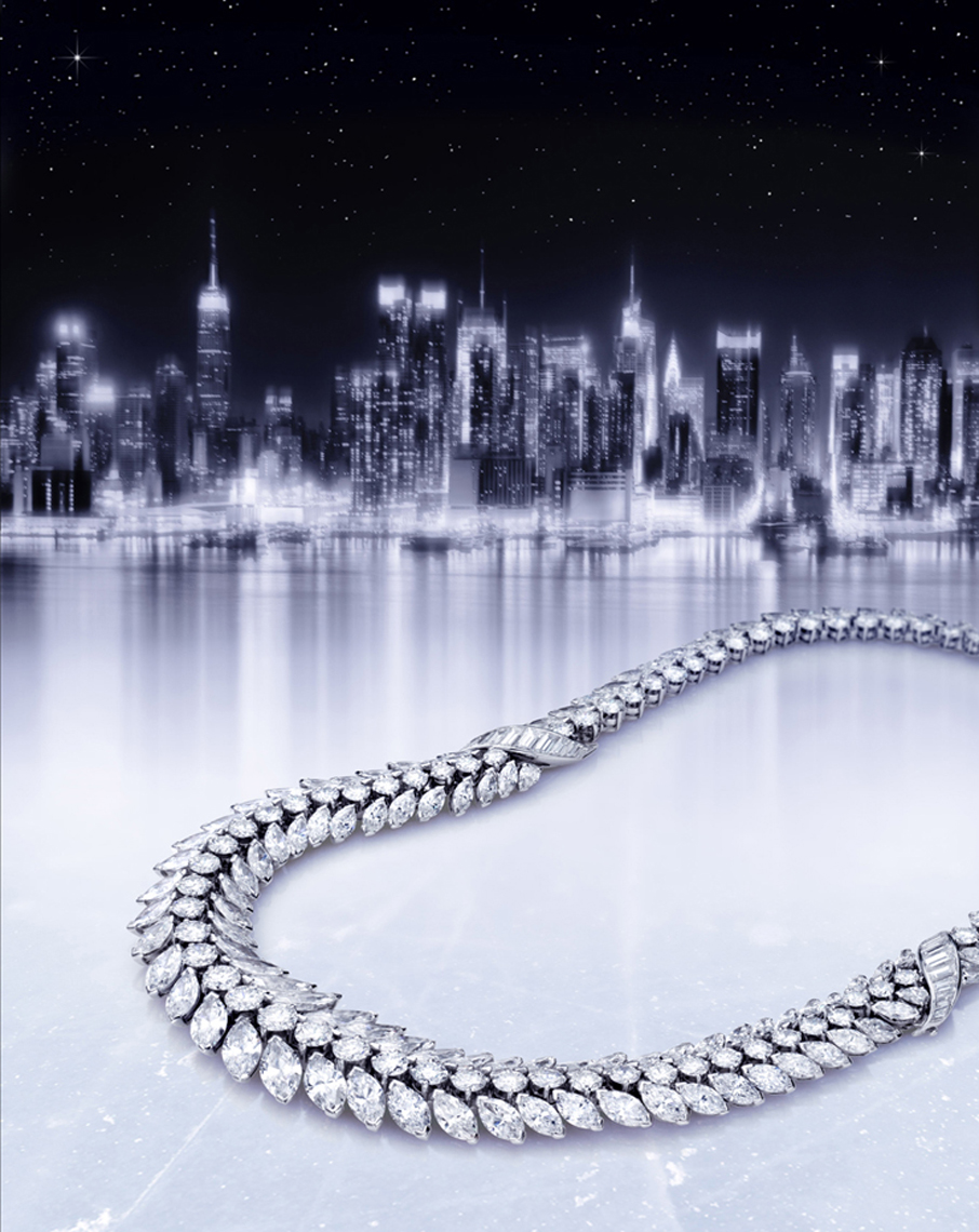 Diamond necklace on ice