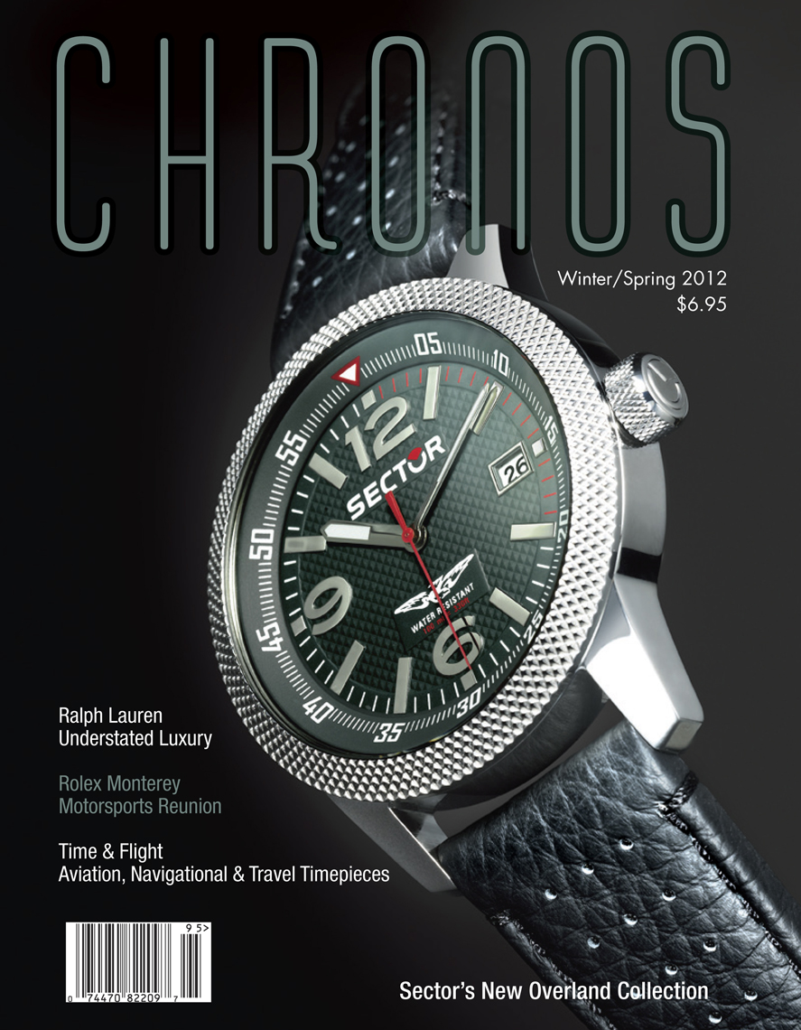SECTOR watch photographed for Chronos Magazine